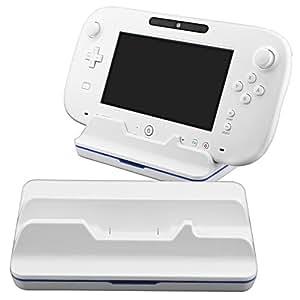 Cargador Base Cradle Blanco Estacion Para Nintendo Wii U Gamepad Mando Remoto
