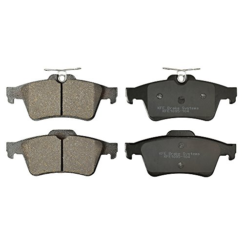 KFE Ultra Quiet Advanced KFE1095-104 Premium Ceramic REAR Brake Pad Set ()