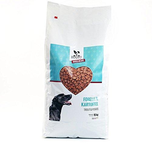 DOGS-HEART Forelle & Kartoffel 15 kg, Getreidefreies Hypoallergenes Hundetrockenfutter
