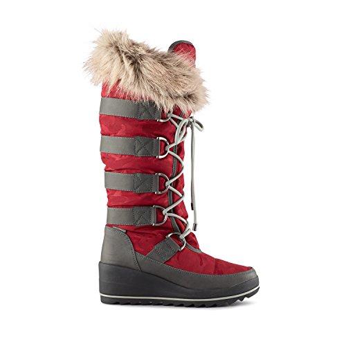 Cougar Women's Lancaster Wedge Snow Boot,Merlot Nova Nylon,US 7 M (Women Wedge Shaft Boots)