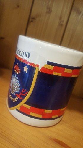 Shell Mug. Mug with the typical decoration of the Contrade of the Palio di Siena. Nicchio. - Mug Caterpillar