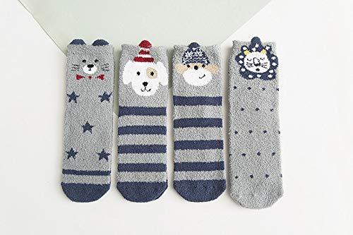Morbuy Mujer Calcetines de Navidad, Set de Calcetín de 4 pares Caja De Regalo Para Invierno Calcetines Suaves del día de Fiesta de las Navidades (Gris): ...