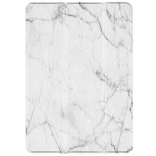 TNP iPad Mini 1/2/3 Case - Slim Lightweight Shell Smart Cover Stand, Hard Back Protection with Auto Sleep Wake for Apple iPad Mini 1/2/3 (Marble White)