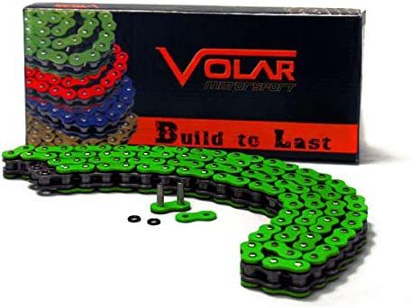 Volar O-Ring Motorcycle Chain for Extended Swingarm Nickel for 525 x 150 Links