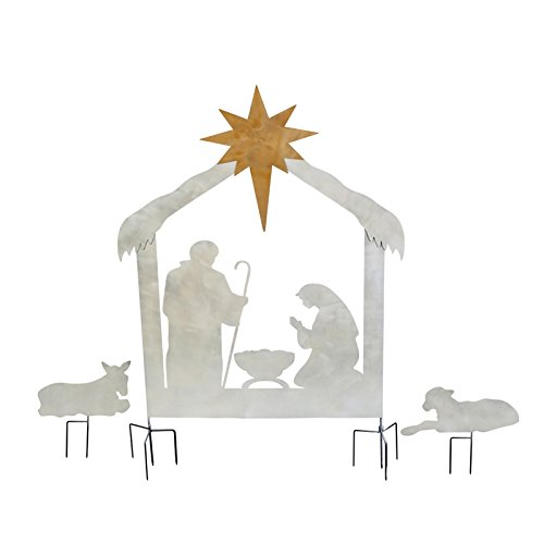 (New Creative Christmas Nativity Scene, Laser Cut Metal Yard Décor)