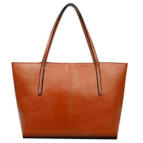 bolso para de piel capacidad mujer hombro sintética bolsas de gran carretera Fashion Anaranjado SFq5Pz