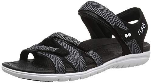 - Ryka Women's Savannah Sandal, Black/Grey, 8 M US