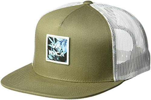(RVCA Men's VA All The Way MESH Back Trucker HAT, Fatigue, One Size)
