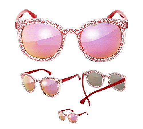 Couleur Glasses A Fashion Lunettes Lym Soleil amp;lunettes amp; Film A Protection De couleur Pattern Style Chine Color x336 Retro U7YUw