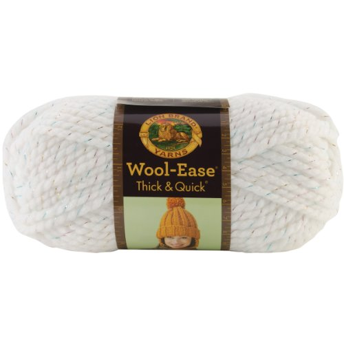 - Lion  640-301 Wool-Ease Thick & Quick Yarn , 97 Meters, Celebration