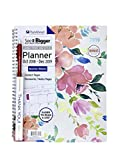 PlanAhead See IT Bigger Oct 2018 - Dec 2019 Monthly/Weekly Large Planner 8.5'' x 11'' and Inspirational Pen''Do it Now Sometimes Later Becomes Never''. (Flowers)