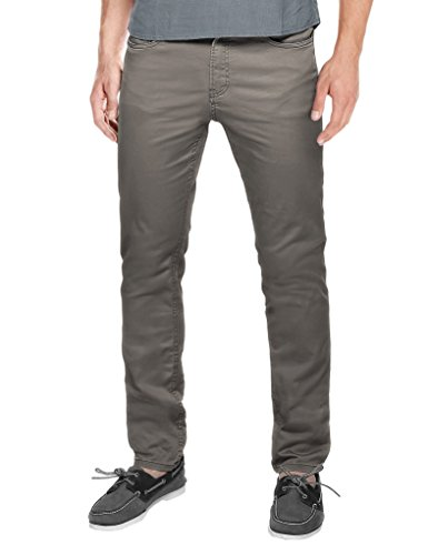 Match Mens Slim Fit Straight Leg Casual Pants 34  8102 Grayish Green