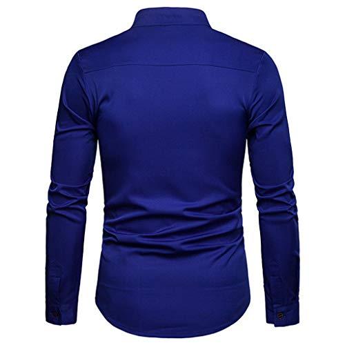 Qinsling Maglione Cappuccio Blu Scuro J Lunghe Sweatshirt Dolcevita Classico Elegante Distintivo Hoodie Cappotto Con Inverno Cerniera Tops Maniche Camicetta Uomo Collo Felpa w4rSqw