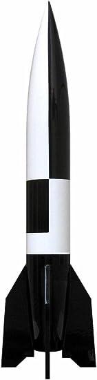 "V2 Raketenmodell /""Schwarz-Weiß /"" Massiver Stahl auf Holzsockel Aggregat 4"