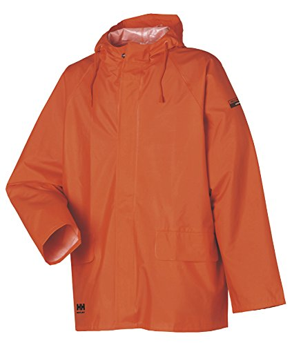 Helly Hansen Workwear Men's Mandal Rain Jacket, Dark Orange, X-Large