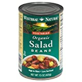 Westbrae Foods, Organic Beans; Low Fat Salad, Pack of 12, Size - 15 OZ, Quantity - 1 Case