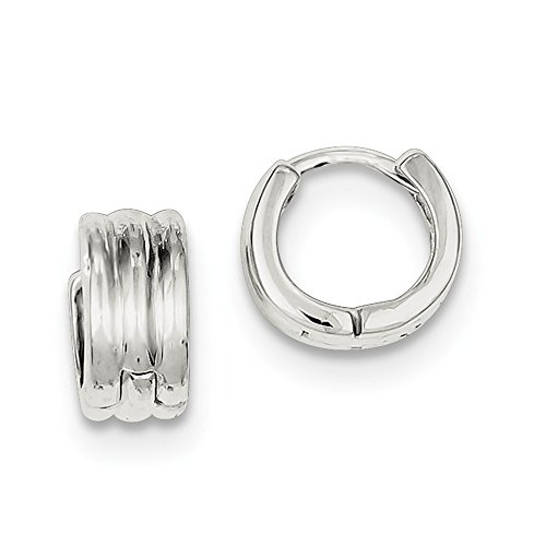 Sterling Silver Huggie-Style Earrings (Approximate Measurements 10mm x 6mm)