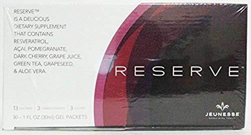 - Jeunesse Reserve Antioxidant Fruit Blend w/ Resveratrol / 3 Boxes (90) Gel Packs, 1 fl. oz. (30ml) each