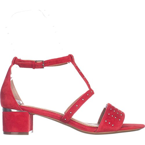 Calvin Klein Womens Divina Open Toe Ankle Strap D-orsay Pumps Lipstick Red iHuVx