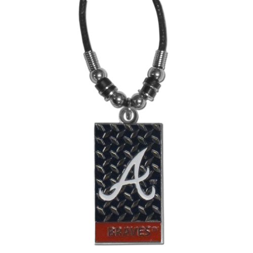 MLB Atlanta Braves Diamond Plate Rope Necklace, 20-Inch ()