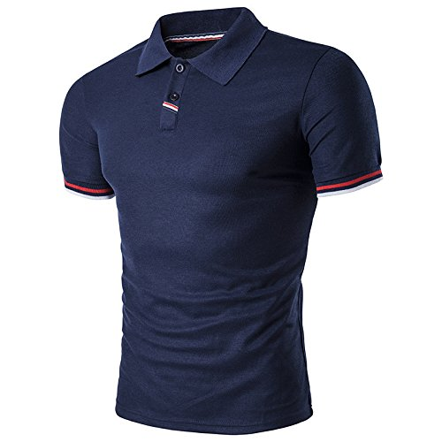 ZHUDJ Herren Große Größe Herren ZHUDJ Polo_Stripe Größe  Herren T-Shirt 33ce29