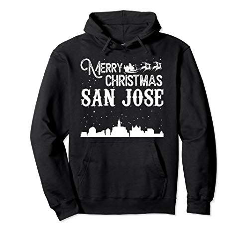 Merry Christmas Y'all San Jose City pullover hoodie -