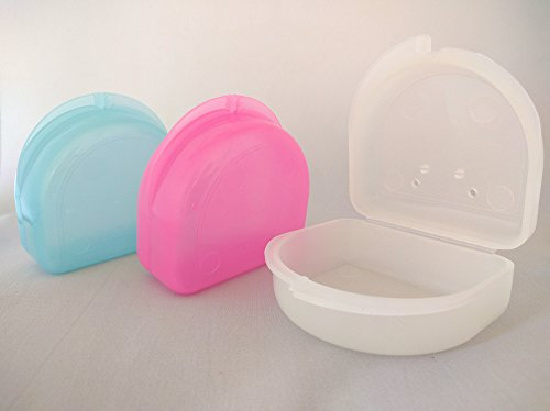 Glow In The Dark Retainer Case Gum Shield Mouthguard Dental Box White
