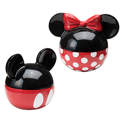 Vandor 89030 Disney Mickey and Minnie Mouse Ceramic Salt and Pepper Set, Red/Black ()