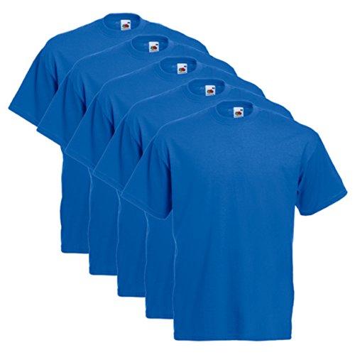 Fruit of the Loom 5er Pack T-Shirts, royal, Größe S