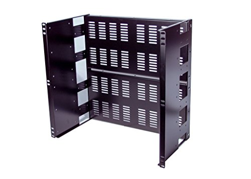 10U Rackmount Vented Adjustable Recessed Panel for general purpose application in a standard 19