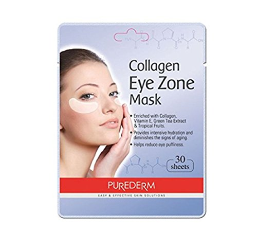 3Pack Total 90(30 in each pack) Purederm Collagen Eye Zone Pad Patches Mask Wrinkle Care (3Pack) (Tea Green Pads)