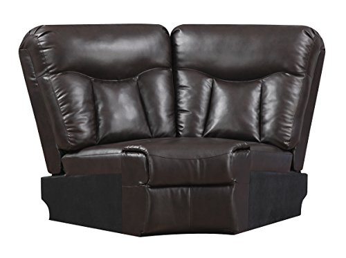 Glory Furniture G925-W Wedge for Sectional Sofa, Chocolate