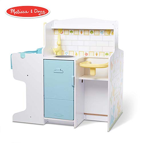 Melissa & Doug Mine to Love Baby Care Activity Center (Role Play Center, Dolls & Stuffed Animals Storage, 32.75