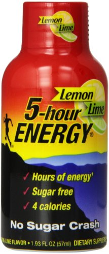 5 Hour Energyshot Nutritional Drink Bottles, Lemon-lime, 1.93 Ounce (Pack of 12) (5 Hour Energy Lemon)