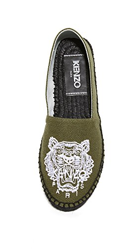 Scarpe Da Calcio In Cotone Kenzo Espadrillas Slip On Tiger Green
