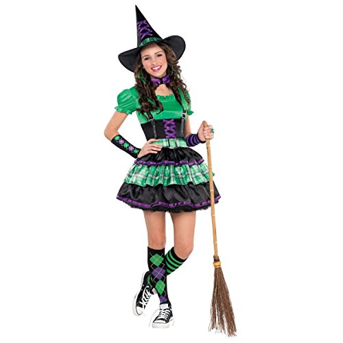 Teen Girls Wicked Cool Witch Junior Size Medium (Cool Haloween Costume)