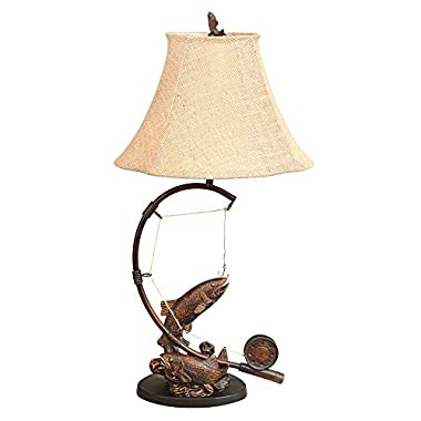 Fly Rod Trout Rustic Table Lamp - Lodge Lighting
