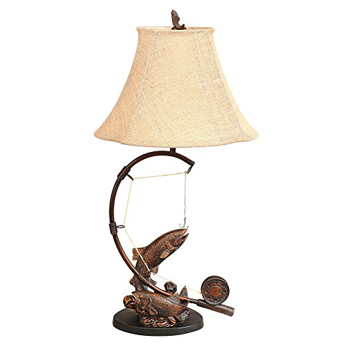 Fly Rod Trout Rustic Table Lamp - Lodge Lighting by Black Forest Decor