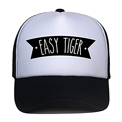 Kids Trucker Hat Easy Tiger Print Child Baby Boy Girl Funny Summer Mesh Baseball Caps Son Gift