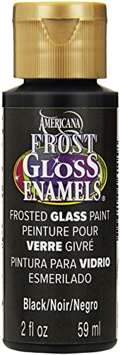 DecoArt Americana Frost Gloss Enamel Paint, 2-Ounce, Black