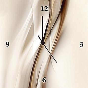 Artland Analoge Wand Funk Oder Quarz Uhr Digital Druck Leinwand Auf Holz