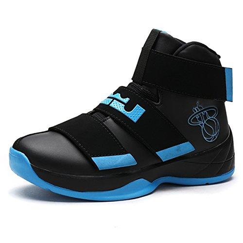 記念過敏なだらしないToan(トアン) メンズJW599学生シューズ スポーツ バスケットボールウォーキング ローカット トレイルランニングシューズスニーカー サイズ 24.5~28.0cm あり25.5cmブラック+ブルー