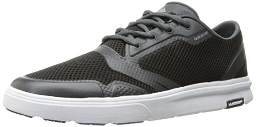 (Quiksilver Men's Amphibian Plus Skate Shoe, Black/Grey/White, 9(42) D US)