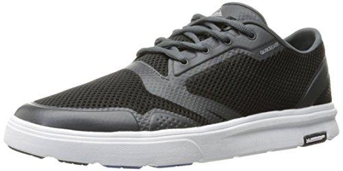 Quiksilver Men's Amphibian Plus Skate Shoe, Black/Grey/White, 10(43) D US from Quiksilver