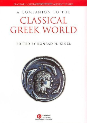 A Companion to the Classical Greek World (Blackwell Companions to the Ancient World) (2006-12-22)