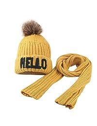 Srogem Baby Toddler Winter Hat Pom Beanie Knit Skull Cap Hats for Boys Girls 2-8T