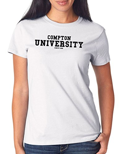 Compton University T-Shirt Girls White Certified Freak