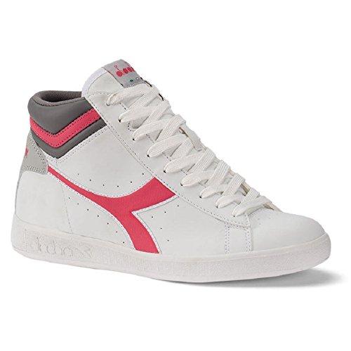 Women Shoe Diadora Game P High 160277C6017White Pink Casual Gym Sport ENj60