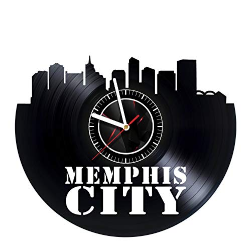 VONAVIroom Memphis City - Vinyl Records Wall Art Room Decor Handmade Decoration Party Supplies Theme - Best Original Present Gift Idea, Vintage and Modern Style -