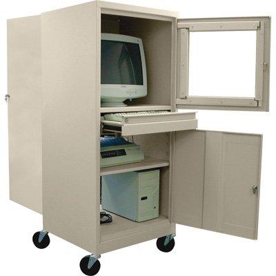 - Sandusky Lee Steel Mobile Computer Security Workstation - For CRT Monitor, Putty, Model# JG2663-07